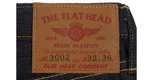 The Flat Head 3002 Size Chart Flat Head 3002 14 5oz Denim Jean Slim Tapered