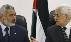 Image result for ismail haniya and mahmoud abbas