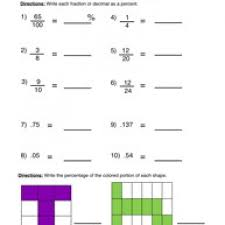 Collection Of Math Worksheets Fractions To Percents | Download Them ...