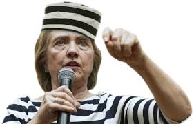 Image result for hillary in prison stripes