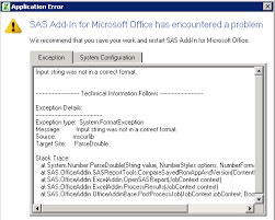 Microsoft Office Reports 60145 When Refreshing Reports With A Report Layout Sas