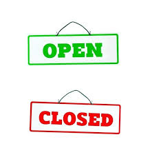 Closed Signs Template Close The Door Sign Theonemoving Co
