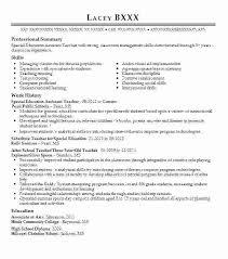 Resume For Teachers Examples Amazing Paraprofessional Resume Sample Paraprofessional Resume Sample