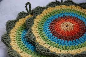 Round Crochet Potholder Patterns