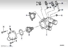 tips on replacing thermostat on 535i m30 engine cooling system thermostat housing bmw parts catalog