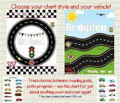 Race Car Incentive Chart Personalized Reward Chart Sticker Chart Laminated Star Reading Potty Chart Chore Chart Kids Behavior
