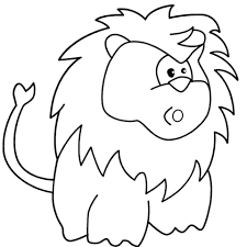 Small Picture Surprised Cartoon Lion coloring page Free Printable Coloring Pages