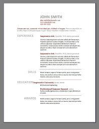 Word Resume Template Free 78 Images Free Basic Resume
