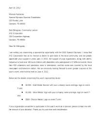 Community Liaison Cover Letter Sponsor Letter For Event Sample Examples Of Onsorship Letters For