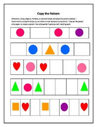 Patterning Gorgeous Patterning Sequencing Worksheets By Little Sprouted Seeds TpT