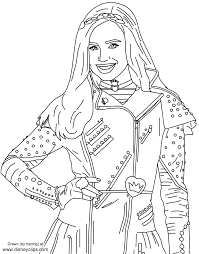 Evie From Disneys Descendants Free Printables Disney Coloring