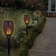 Outdoor torch lights Citronella Solar Powered Garden Torch Ebay Solar Torch Lights Wayfair