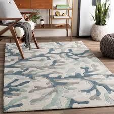blue green rugs