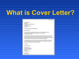 definition of cover letters