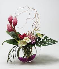Large tropical vase arrangement featuring Ginger, Mokara orchids, Hot Lady  | General Happy Mishmash | Pinterest | Tropical vases, Vase arrangements  and ...