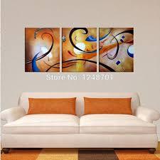 wall art office. Large Wall Art, 3 Piece Oil Painting, Modern Contemporary  Art Wall Art Office