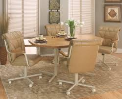 Chromcraft Furniture Kitchen Chair With Wheels Dining Chairs With Casters Swivel Crowdsmachinecom