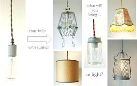 make your own pendant light kit s plug in pendant light kit