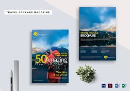 Magazine Template Psd Travel Package Magazine Template