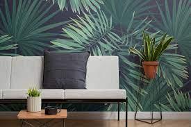 Green Tropical Plant Wallpaper Mural ...