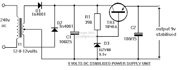 electronic hobby circuits 9 volts dc power supply circuit diagram electronic circuit diagram symbols at Electronic Circuit Diagrams
