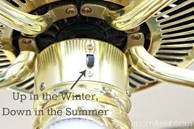 change the direction of your ceiling fan in the summer and winter for to regulate air