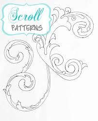 4d16dd66b43e76ffff0e0c8338b87378 choosing scroll patterns free printables crafting, coloring on printable scroll