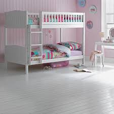 wooden bunk bed kids children s white 3ft single rosa with mattress option