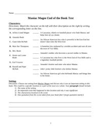 magee essay topics maniac magee essay topics