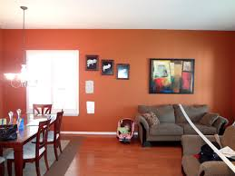 Living Room Color Schemes With Brown Furniture Orange Paint Colors For Living Room Living Room Design Ideas