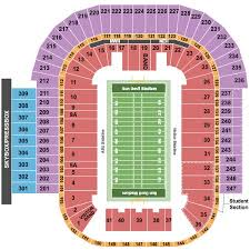Sun Devils Seating Chart Sun Devil Stadium Tickets And Sun Devil Stadium Seating