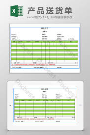 Excel Delivery Delivery Delivery Note Excel Template Excel Template Xls