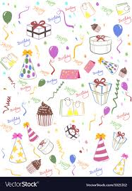 Happy Birthday Background Images Seamless Happy Birthday Background Royalty Free Vector Image