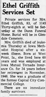 Ethel (Emerson) Griffith Death Announcement - Newspapers.com