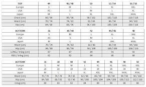 Womens To Mens Size Chart Eider Size Chart
