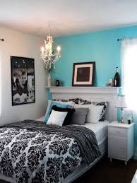 Bedroom, 8 Fresh and Cozy Tiffany Blue Bedroom Ideas: Tiffany Blue And Black  Bedroom