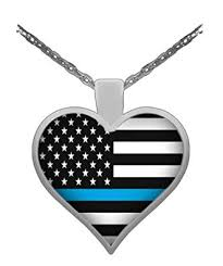 thin blue line necklace police jewelry