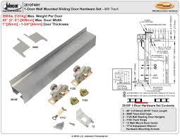 picture of 2610f 24 1 door hardware set ball bearing hangers