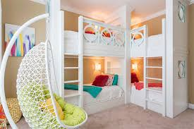double bunk bed four beds kids bedroom