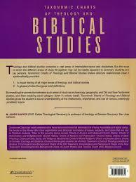 Theology Charts Taxonomic Charts Of Theology And Biblical Studies