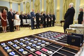 governor general david johnston b 1941 awards military medals at a 2016 ceremony ronald sne rideau hall