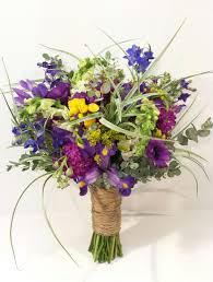 Fusion Floral Design Bright And Vibrant Fusion Inspired Bridal Bouquet By Calgary