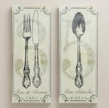 cool french fork and spoon wall art