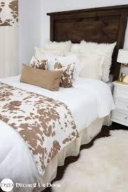 tan cowhide custom designer bedding collection
