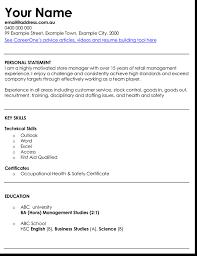 Management Cv 3 Best Retail Manager Resume And Cv Samples