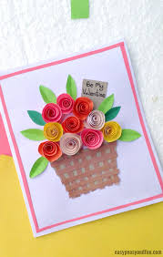 Make Flower With Paper Diy Rolled Paper Roses Valentines Day Or Mothers Day Card Easy