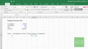Watch Me Build A Mortgage Amortization Table In Excel In Under 90 Seconds