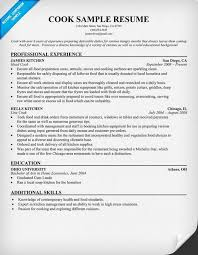 sample resume cook