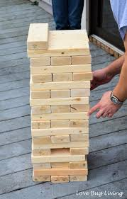 Making Wooden Games Love Bug Living DIY Giant Jenga Game 72