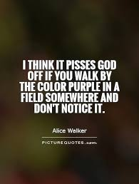 Color Purple Quotes Impressive I Think It Pisses God Off If You Walk By The Color Purple In A